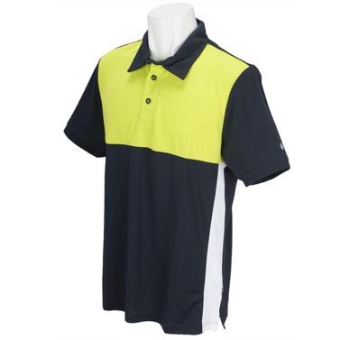 半袖ポロシャツ 黄色×黒