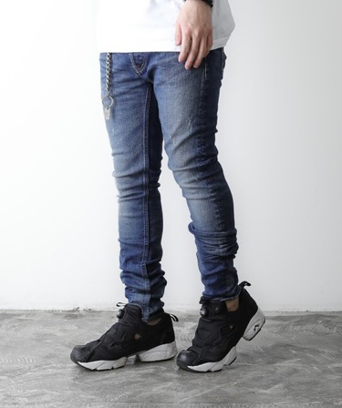 "LOUNGE LIZARD/TWIN POWER STRETCH DENIM×SHAVING ""HIGH WAIST SKINNY LEG"""