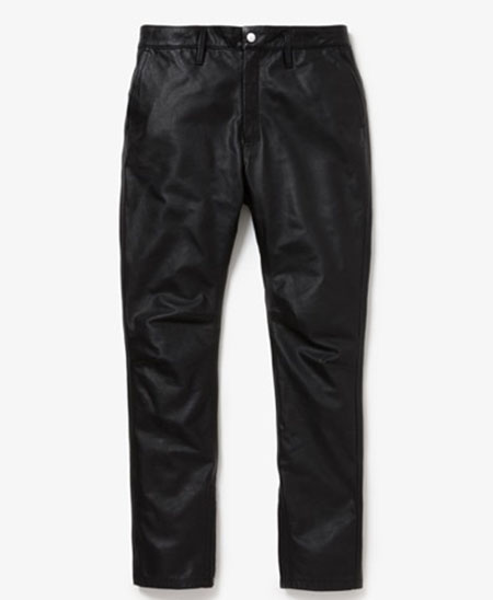 EXPLORER JEANS DROPPED FIT COW LEATHER