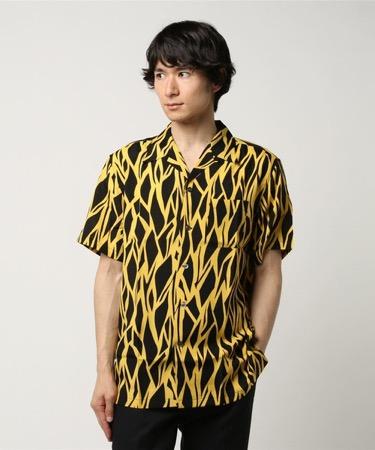 オリジナルプリントオープンカラーシャツ