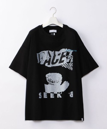 COLLAGE FACE BIG TEE 黒