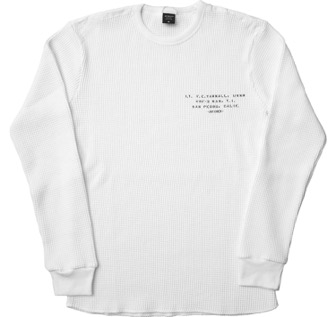 AVIREX/長袖 ビックワッフル クルーネック Tシャツ