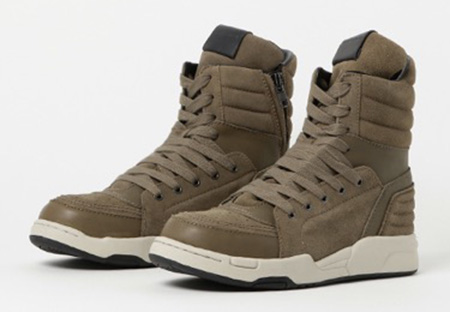 Side zip hi-top sneaker ' massive '