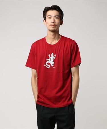 トカゲプリントTシャツ