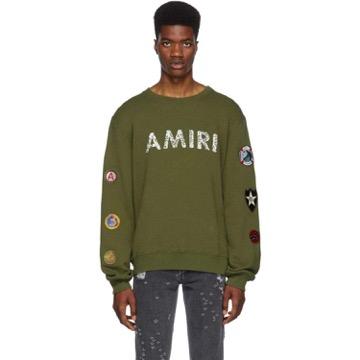 Amiri/Green Amiri Patch Sweatshirt