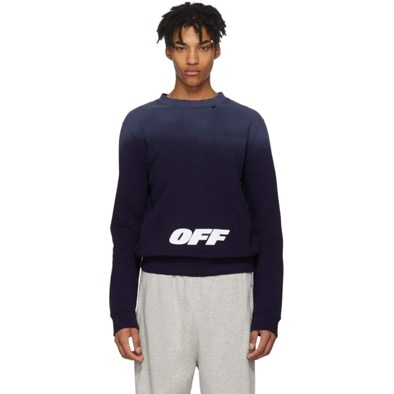 Off-White/Navy Wing Off' Sweatshirt
