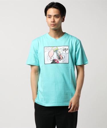 グリーンTシャツ コーデ