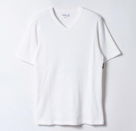 リブ無地Tシャツ