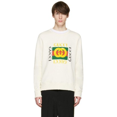 Gucci/Ivory Logo Pullover