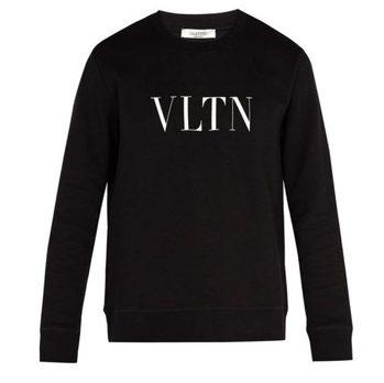 Valentino/Logo-print cotton-blend sweatshirt