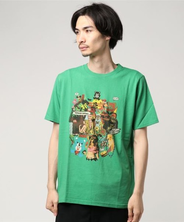 HYSTERIC GLAMOUR SKLX/TEENAGE DIRTBAGプリントTシャツ
