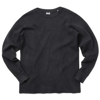 Schott/ハニカム ワッフル ロングスリーブ Tシャツ
