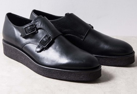 PADRONE/STUDIOUS DOUBLE MONK STRAP SHOES