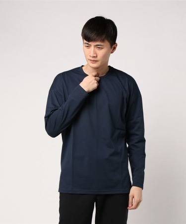 Drop shoulder long-sleeve T-shirt