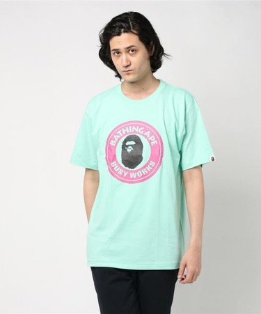 A BATHING APE/COLORS BUSY WORKS TEE