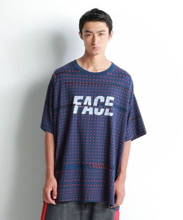FACE DOT BIG TEE ネイビー