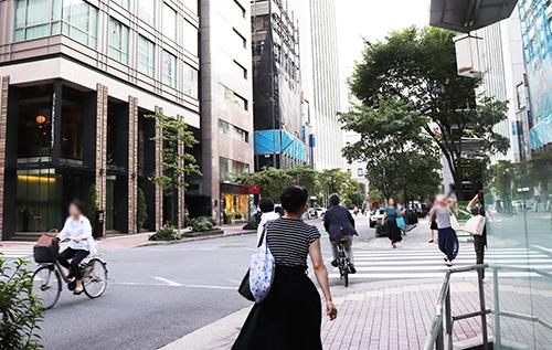 東銀座駅 付近