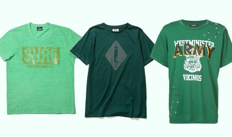 グリーンTシャツ