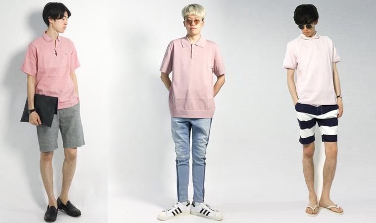 ポロシャツ コーデ