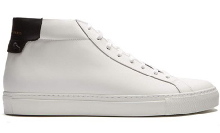 Urban Street mid-top leather trainers