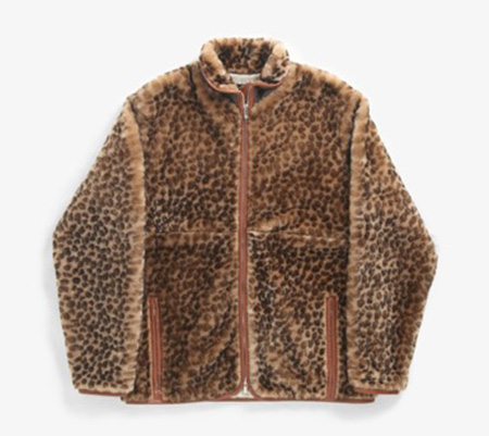 SHEARLING JACKET - LEATHER PIPING