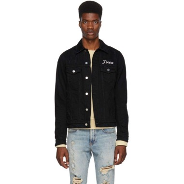 Amiri/Black 'Lovers' Trucker Jacket