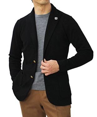 ウールピークドラペル ニットジャケット