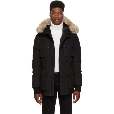 Black Down Expedition Coat