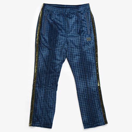 NARROW TRACK PANT - HOUNDSTOOTH VELOUR