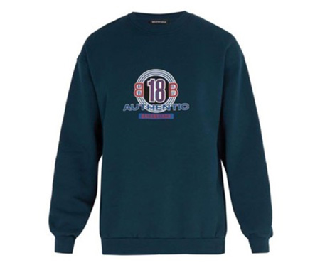 BB18-print cotton-blend sweatshirt