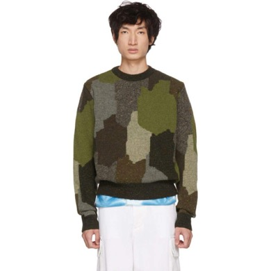 Multicolor Military Sweater