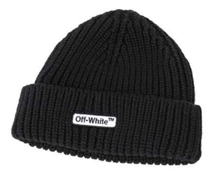 OFF-WHITE/ウールリブビーニー
