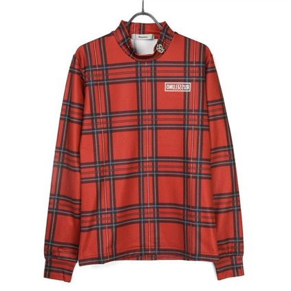 ATTERN HIGHNECK LS【RED CHECK】