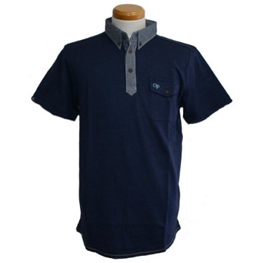 ボタンデザインポロシャツ