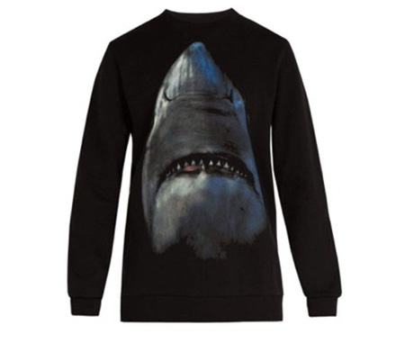 Shark-print cotton sweatshirt