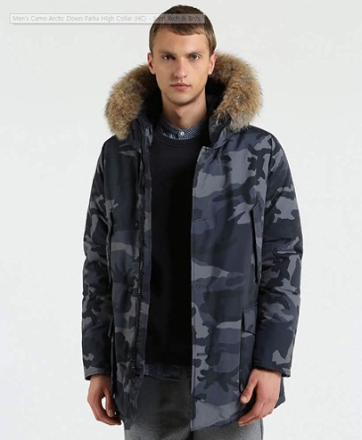 Camo Arctic Down Parka High Collar