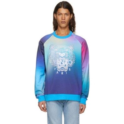 Blue Limited Edition Geo Tiger Sweatshirt
