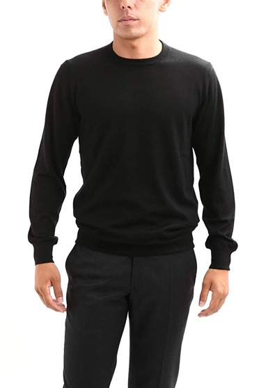 Silk Cashmere Crew Neck Sweater