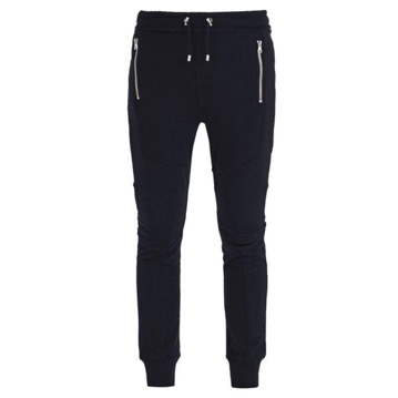 Panelled cotton track pants