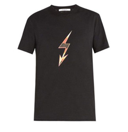 Lightning bolt arrow-print cotton T-shirt