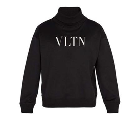 Logo-print roll-neck jersey sweatshirt