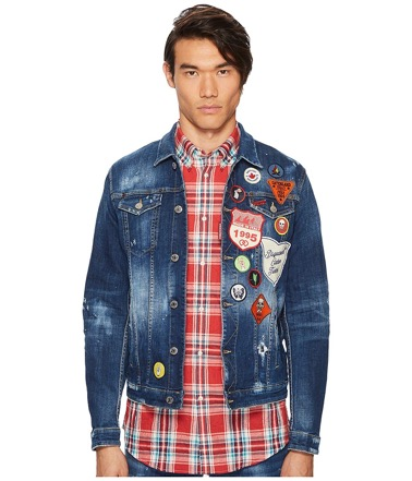D SQUARED2/Patchwork Denim Jacket
