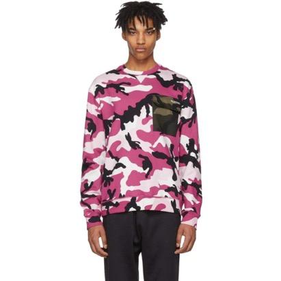 Pink New Camo Pocket Sweatshirt