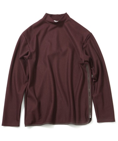 soe/Side Zip L/S Mock-Neck T