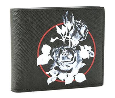 バラプリントLEATHER2つ折り財布