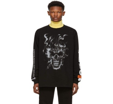 Black Skull Long Sleeve T-Shirt