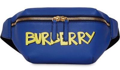 Burberry/ミディアム グラフィティレザーベルトバッグ