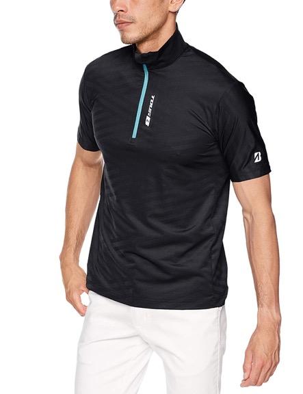 半袖3D解析ハーフジップシャツ