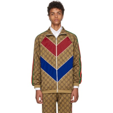 Gucci/Tan GG Vintage Track Jacket