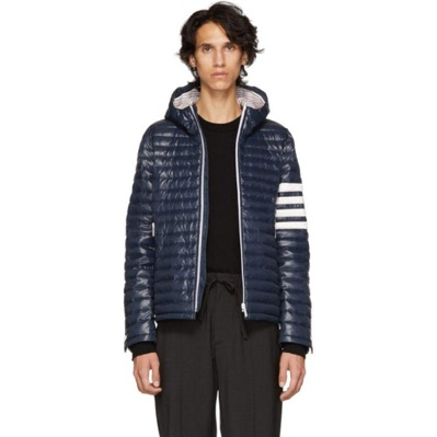 Navy Quilted Four Bar Jacket